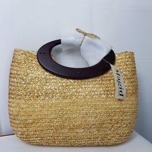NWT Magid raffia woven straw purse